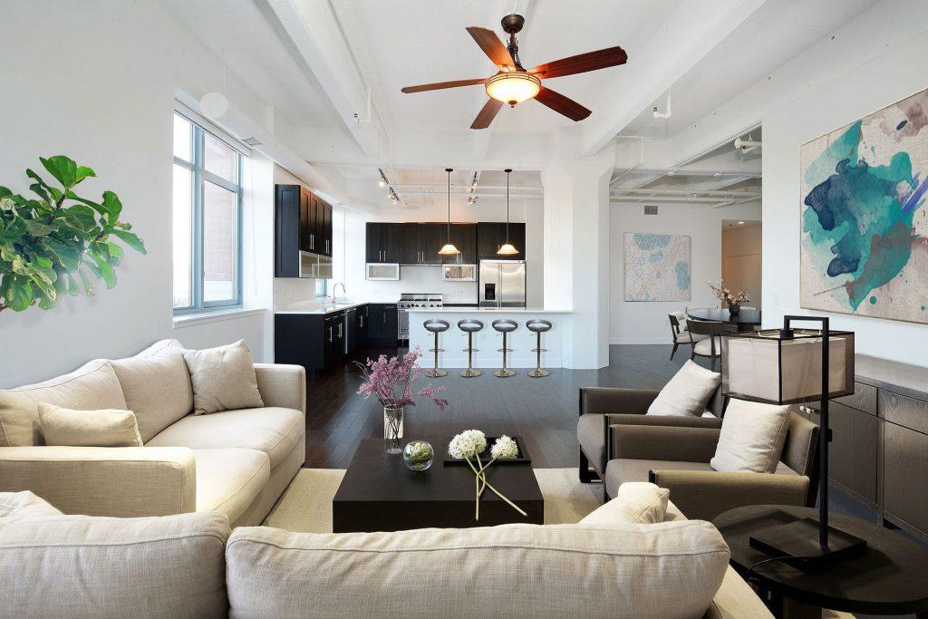 Renovated condo interior apartment -  condo remodel
