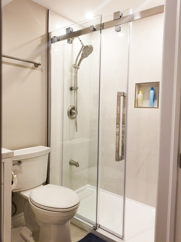 Image of a renovated bathroom