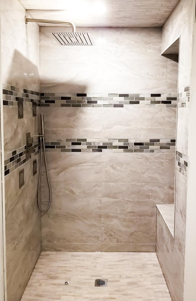 image of custom shower design