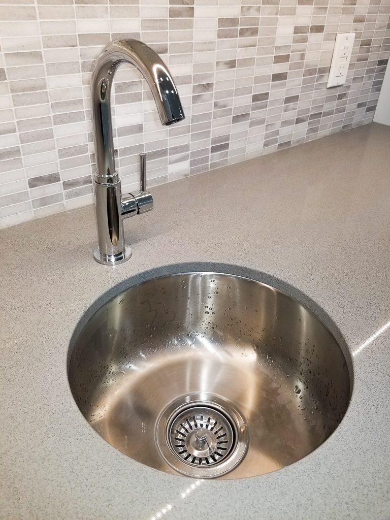 image of a kitchen countertop Moose condo reno