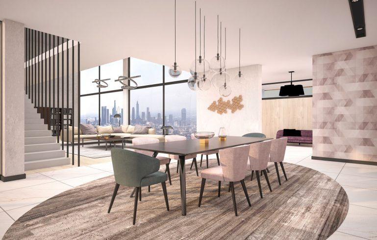 Render of modern dining room