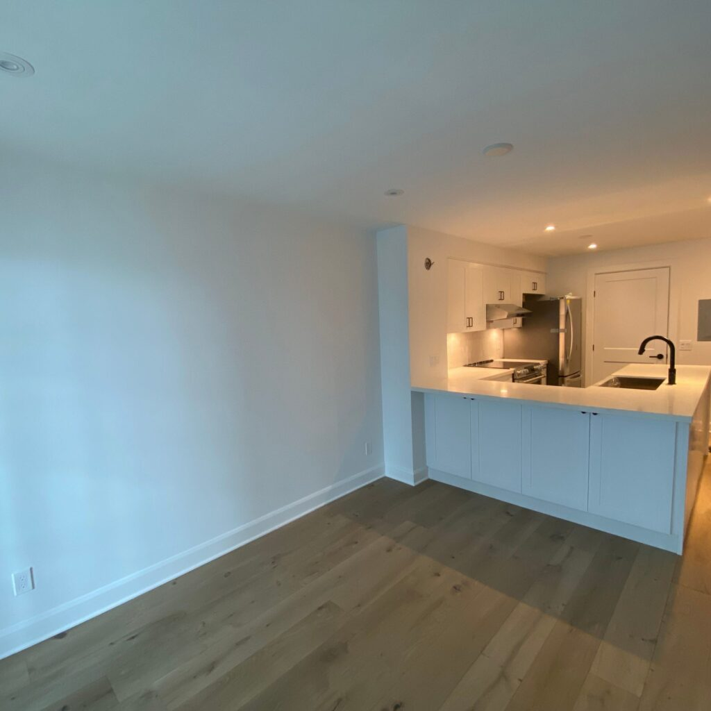 custom condo living room and luxury kitchen toronto