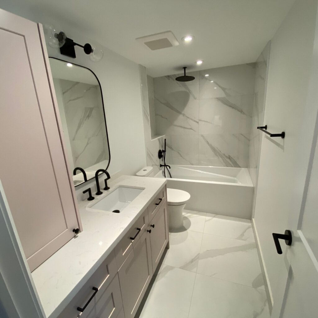 modern bathroom renovation condo