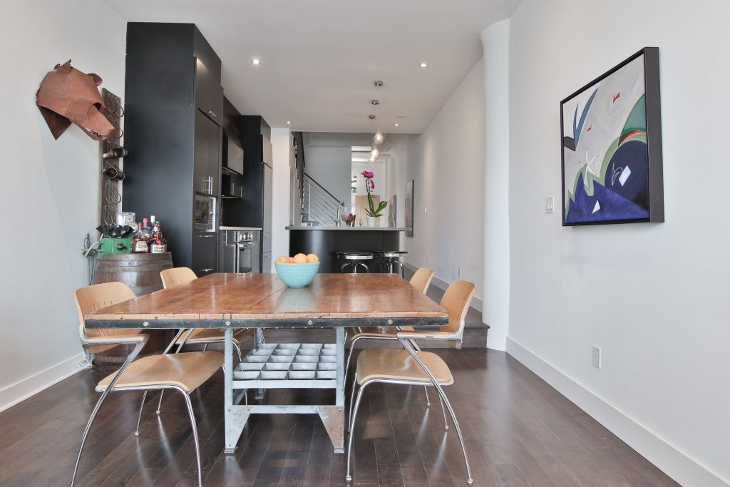 condo apartment remodeling with dining room and kitchen - condo renovations on a budget