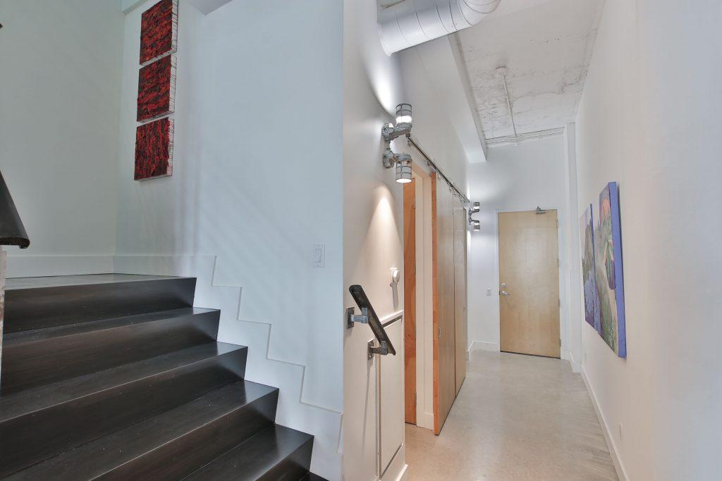 condo staircase to second floor - loft renovation markham