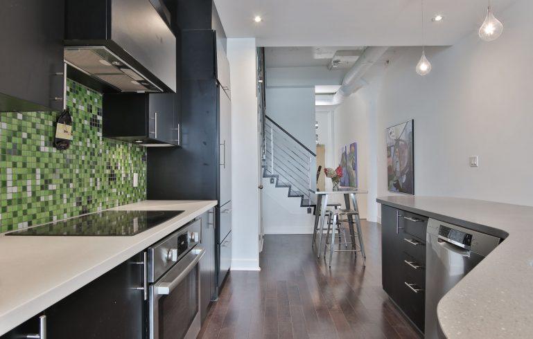 modern condo kitchen renovation by moose condo reno - kitchen condo renovations