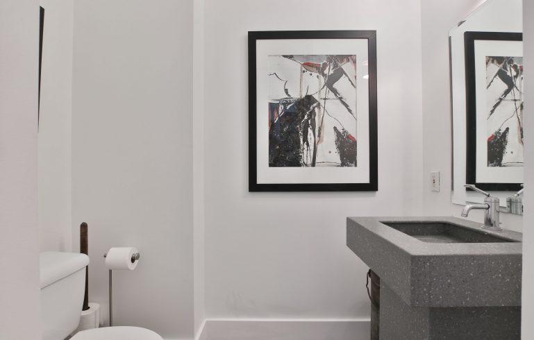 small bathroom in condo renovation - bathroom renovation condo