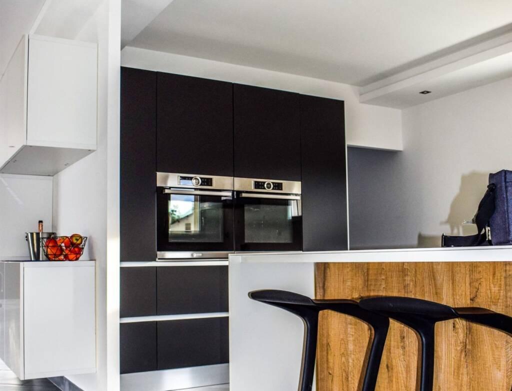 modern kitchen design by moose condo reno