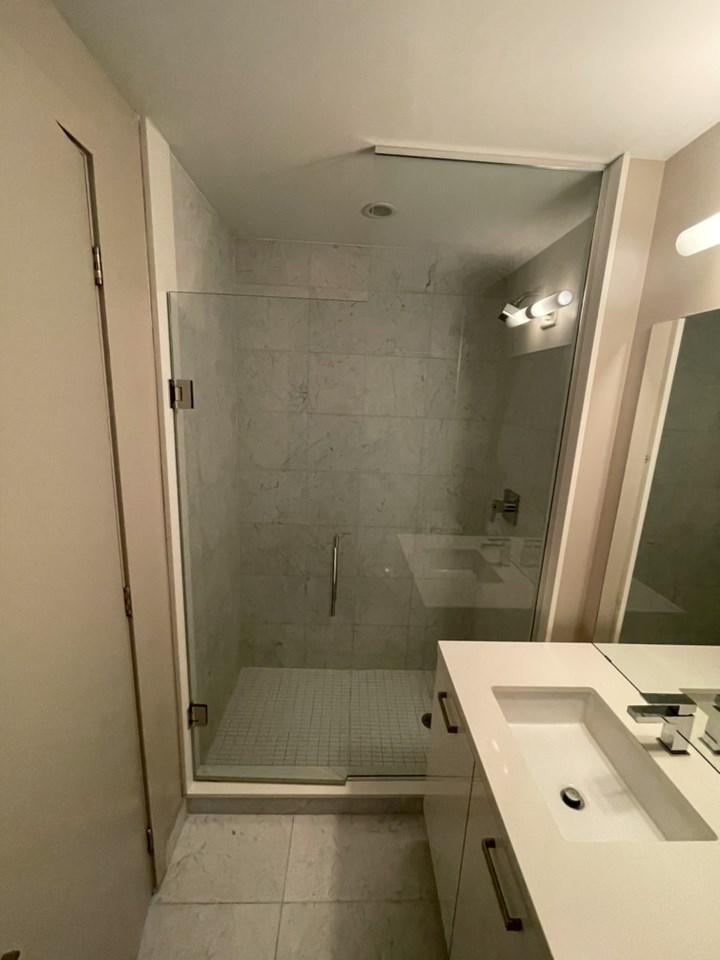 condo bathroom renovation project before photos