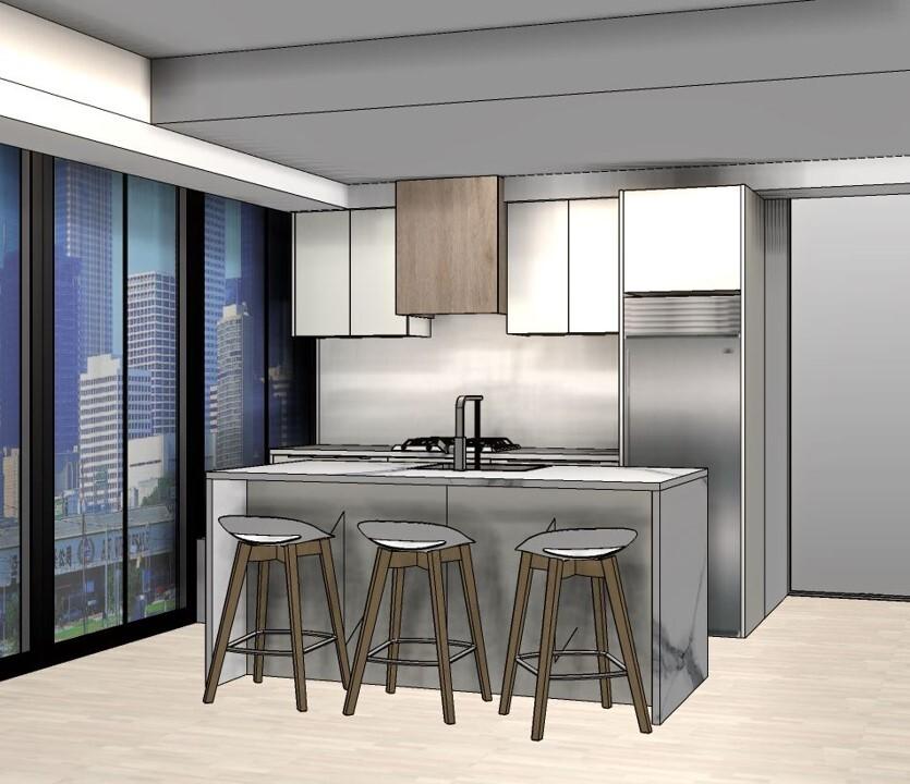 condo kitchen 3d design